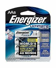 Energizer L91BP-8 Ultimate Lithium AA Battery - Pack of 8