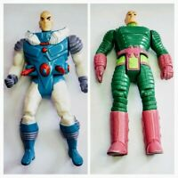 2 Vintage Kenner Super Powers Lex Luthor Action Figure Lot 1984 and RARE 1989
