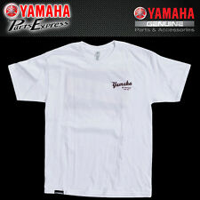 NEW GENUINE 2017 YAMAHA MEN'S OPEN ROADS DISTRESSED TEE WHITE CRP-17TOP-WH-SM