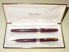 Vintage Usa Sheaffer'S Pen Pencil Writing Set 14K Tip Fountain Pen Imp White Dot
