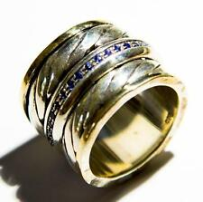 Spinner Ring Israeli Silver Gold spinning rings jewelry Mediatation Bluenoemi