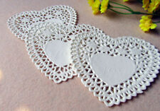 4 inch Paper Doilies White Heart Shaped Hollow Lace Paper Pad Biscuits Cakes Pad