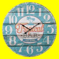Orologio Tropical Bar da parete in legno XXL - Diametro 58 cm - Stile Vintage