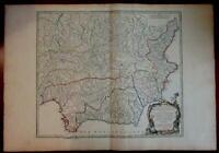 Spain Grenada Castille Andalusia 1751 Vaugondy decorative antique map