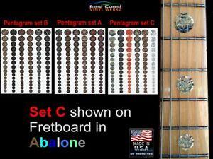 Pentagramme - Frette Marqueur Manche de Guitare Incrustation Stickers Pour Dean