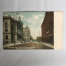 Terre Haute Indiana Seventh Street Unposted Postcard
