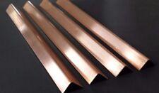 "(4 pc.) Copper Sheet Angle .027"" 20oz. 22 gauge 1/2"" x 1/2"" x 8"""