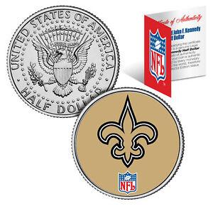 NEW ORLEANS SAINTS NFL Logo JFK Half Dollar U.S. Coin Officially Licensed w/COA