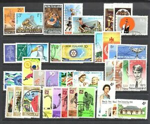 World Postage Stamps New Zealand. 1967/74 - 17 Complete Sets - Used/Fine Used