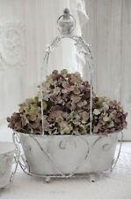 Übertopf Blumentopf Metalltopf Blumenampel groß Shabby Chic Vintage Landhaus