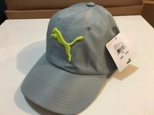 Puma Adjustable Cap Hat Strapback Barrett Gray/Yellow Logo