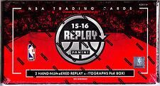 2015/16 Panini Replay Basketball Factory Sealed Hobby Box - Without Mosaic Box