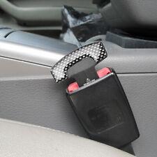 Carbon Fiber Car Seats Belt Stop Alarm Eliminator Safety Buckle Plug Accessories