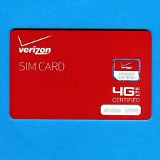 New Genuine Verizon Micro SIM Card • supports 4G LTE •prepaid or postpaid plans