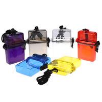 1PC Outdoor Waterproof Pockets Key Money Storage Box Case Holder Plastic Case ER