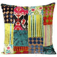 Colorful Velvet Sofa Couch Pillow Cushion Throw Cover Case Bohemian Accent Boho