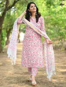 Women Indian Designer Ethnic Kurta With Palazzo Dupatta Salwar Kameez Readymade