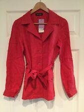 Eva Tralala 100% Red Linen Blazer, Size Medium NWT! $198