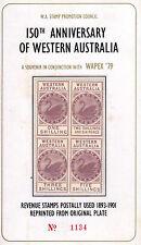 Australia 1979 mnh 150th ANNIV. of western Australia wapex'79 reprinted