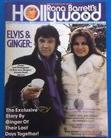 Rona Barrett's HOLLYWOOD Magazine March 1978 Elvis & Ginger Farrah Fawcett etc.