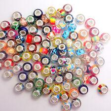 wholesale 50pcs mix murano Jewelry beads LAMPWORK fit European Charm Bracelet
