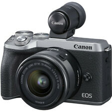Canon EOS M6 Mark II Mirrorless Digital Camera + 15-45mm Lens, EVF-DC2, Silver