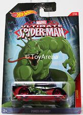 Hot Wheels Marvel Ultimate Spider-Man 2015 Power Pistons 1/64 Rare Die-Cast Car