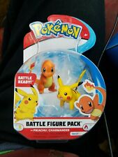 Pokemon Battle Figure Pack  Pikachu Charmander Walmart Exclusive New