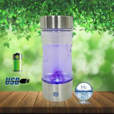 Portable Hydrogen Rich Water Bottle Transparent Water Maker H2 Generator Ionizer