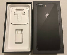 Apple iPhone 8 Plus Gray 64GB Box w/New OEM Earpods,charger, Cable -No phone