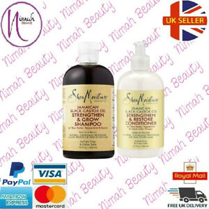 Shea Moisture Jamaican Black Castor Oil Strength Shampoo & Conditioner 13oz Each