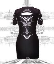 Dane DECO mi Manches Slash dress cyber goth Clubwear podium près du corps UV