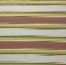"AMERICAN SILK PENTHOUSE STRIPE RED GREEN S3031 100% SILK FABRIC BY THE YARD 54""W"
