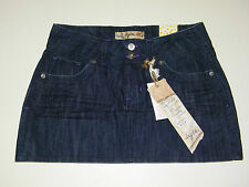 Jean Mini Skirt Tyte Dark Wash with Embellished Back Pockets Junior Women's 7