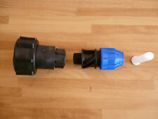 IBC Adaptor Fitting MDPE Water Pipe Compression Connector IBC Tank Fitting Fuel