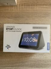 Lenovo - Smart Clock with Google Assistant - Gray.  (NEW Sealed)