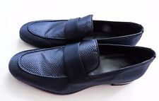 $1025 BRIONI Rare Navy Blue Silk Tuxedo Formal Dress Shoes 11 US 44 Euro 10 UK
