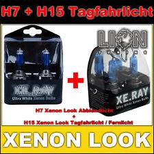 2x H15 + 2x H7 XE.RAY White Xenon Optik Glüh Birnen Auto Lampen Tagfahrlicht Set