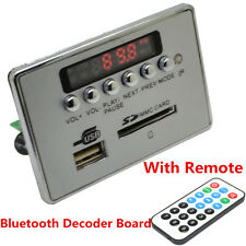 12V Car Bluetooth Kit Wireless MP3 Decoder Board Audio Module USB SD TF FM Radio