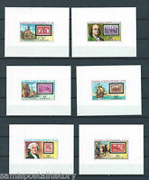 Liberia mnh stamp set in deluxe imperf sheets - stamp on stamp