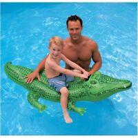 ALLIGATORE CAVALCABILE GONFIABILE INTEX 58546 -168x86 cm per piscina mare o lago