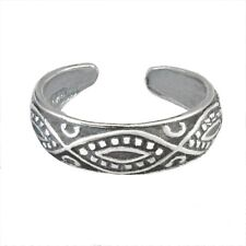 Diamond Paisley Toe Ring in Solid Sterling Silver - New - Made in the Usa!