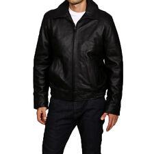Tommy Hilfiger Men's Leather Bomber Jacket