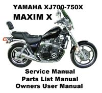YAMAHA XJ750X MAXIM XJ 700 Owners Workshop Service Repair Parts Manual PDF CDR