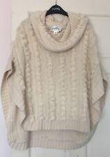 Joseph Ribkoff Cream Cape/Poncho/Wrap Faux Fur Trim UK Size S/M 8-10-12-14 BNWT