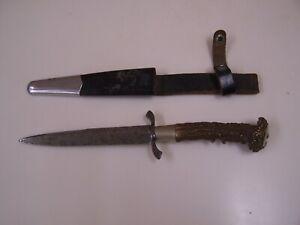 German pre WWI  Knife   marked ERBER   etched blade    scabbard    original