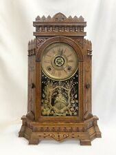 "New ListingAntique Gilbert ""Altai� Parlor Mantle Clock Alarm and Strike Circa 1874"
