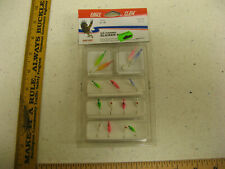 Eagle Claw 15 piece Ice Fishing Slicker Kit jigs 1/4 3/8 oz NEW Box 172