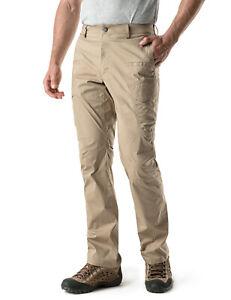 CQR Men's Outdoor Hiking Pants, Water Repellent Lightweight Work Cargo Pants
