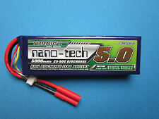 TURNIGY NANO-TECH 5000mAh 4S 14.8V 25C 50C LIPO BATTERY TRUCK BUGGY EDF LOSI 1/8